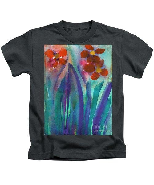 Red Flowers Kids T-Shirt