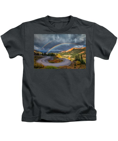 Red Mountain Rainbow Kids T-Shirt