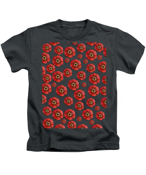 Red Poppies Transparent  Kids T-Shirt