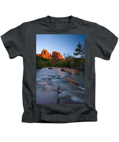 Red Rock Sunset Kids T-Shirt