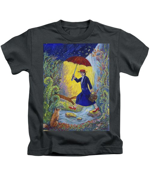 Red Shoes Mary Poppins Kids T-Shirt