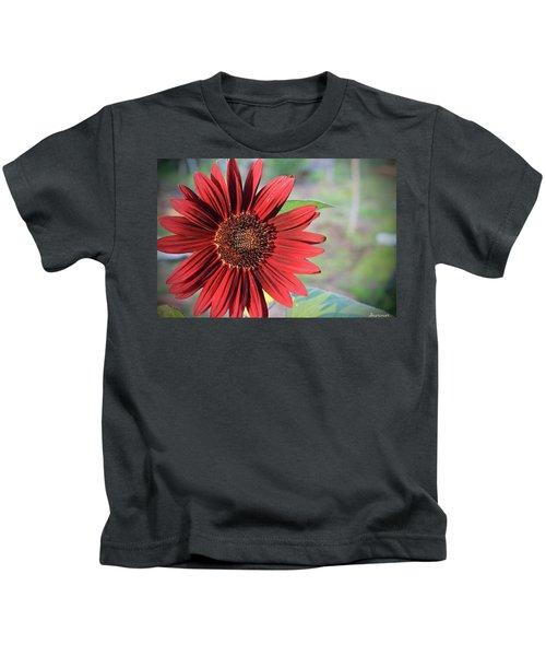 Red Sunflower Kids T-Shirt