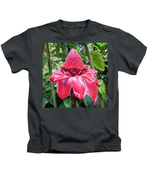 Red Torch Ginger Flower Kids T-Shirt