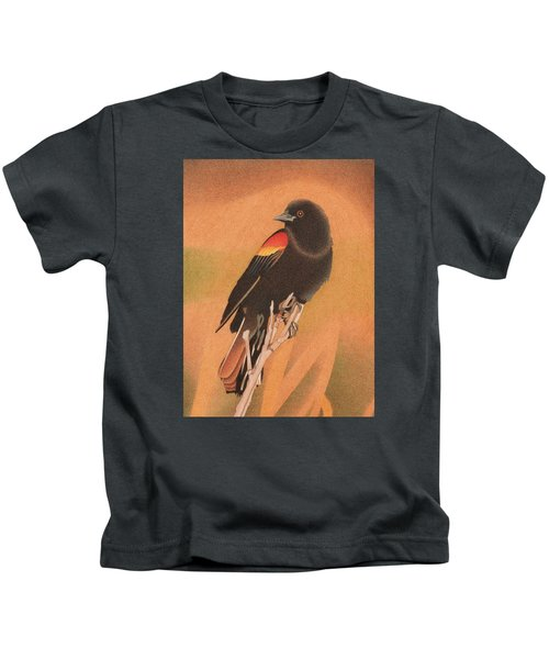 Red-winged Blackbird 3 Kids T-Shirt