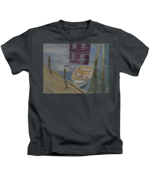 Reflection In Red Kids T-Shirt