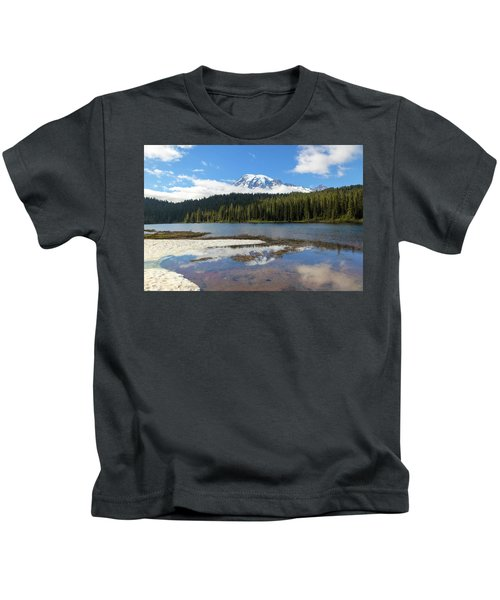 Reflection Lakes In Mount Rainier National Park Kids T-Shirt