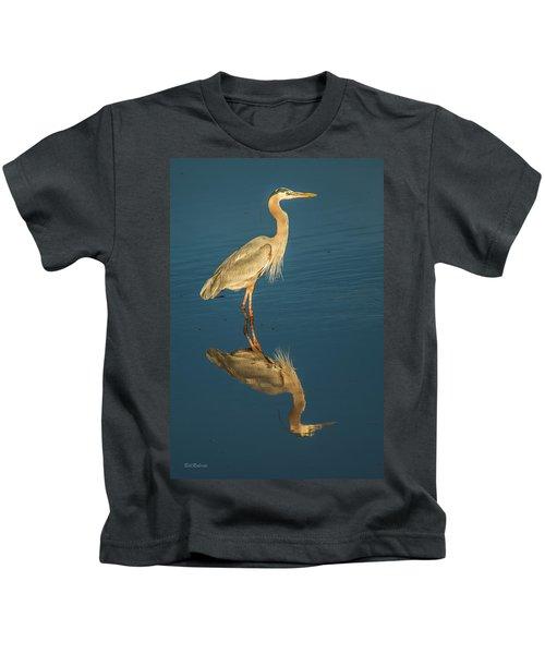 Reflection On Blue Kids T-Shirt