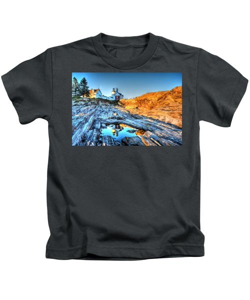 Reflections At Pemaquid Point Kids T-Shirt