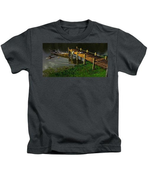 Reflections In A Restless Pond Kids T-Shirt