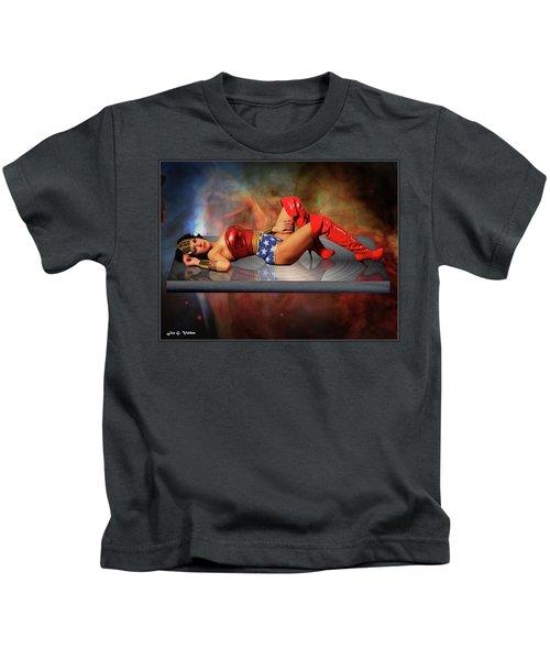 Reflections Of A Wonder Woman Kids T-Shirt