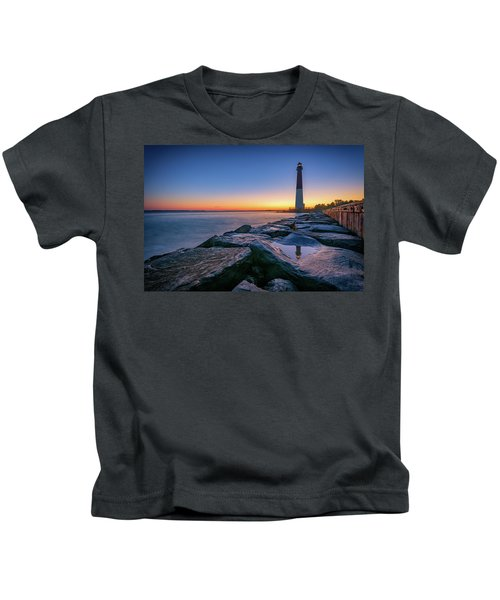 Reflections Of Barnegat Light Kids T-Shirt