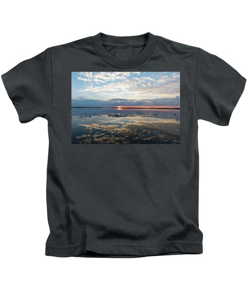 Reflections Over Back Bay Kids T-Shirt