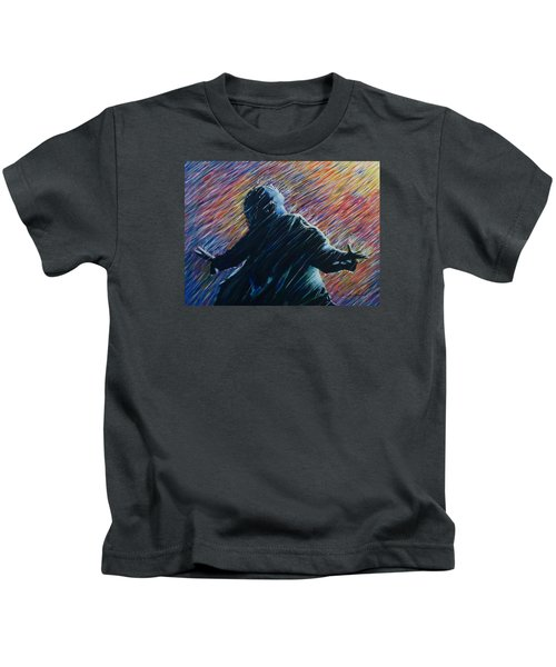 Kids T-Shirt featuring the painting Reign O'er Me by Amelie Simmons