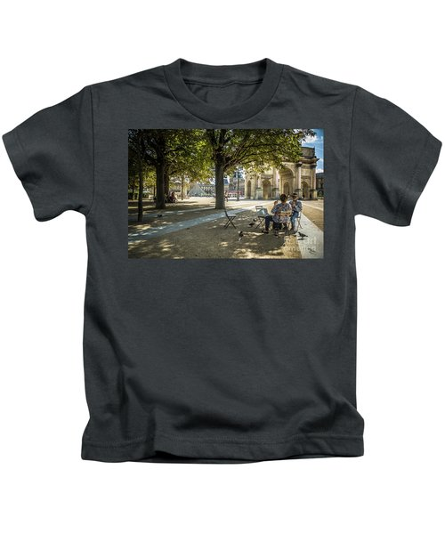 Relaxing Afternoon In Paris Kids T-Shirt