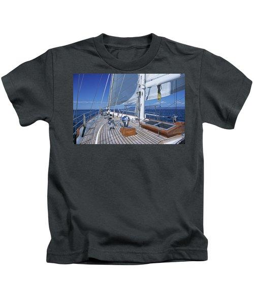 Relaxing On Deck Kids T-Shirt