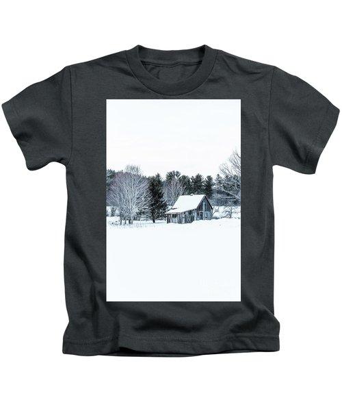 Remote Cabin In Winter Kids T-Shirt