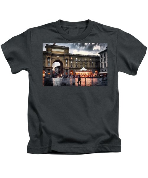 Republic Square In The City Of Florence Kids T-Shirt