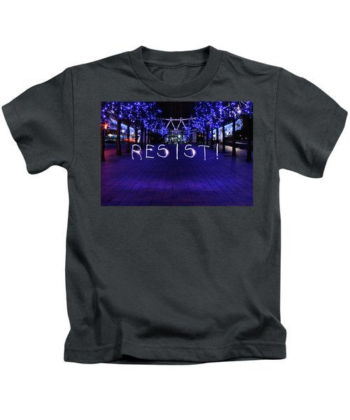 Resistance Light Painting Kids T-Shirt