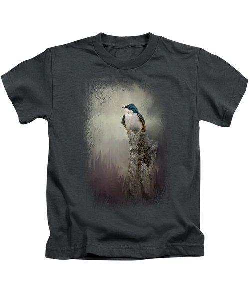 Resting Tree Swallow Kids T-Shirt