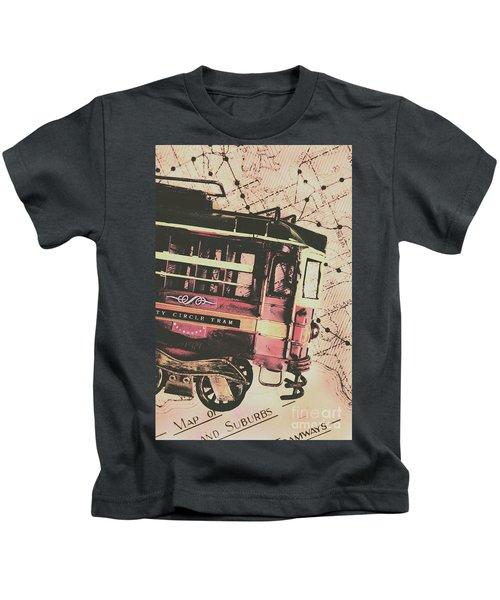 Retro Streets And Urban Trams Kids T-Shirt
