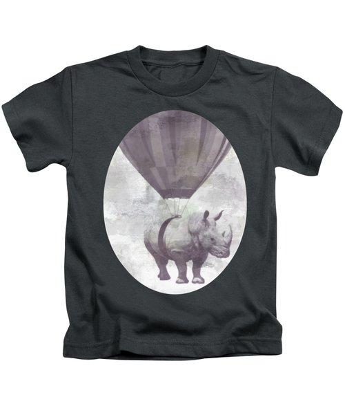 Rhino On Clouds Kids T-Shirt