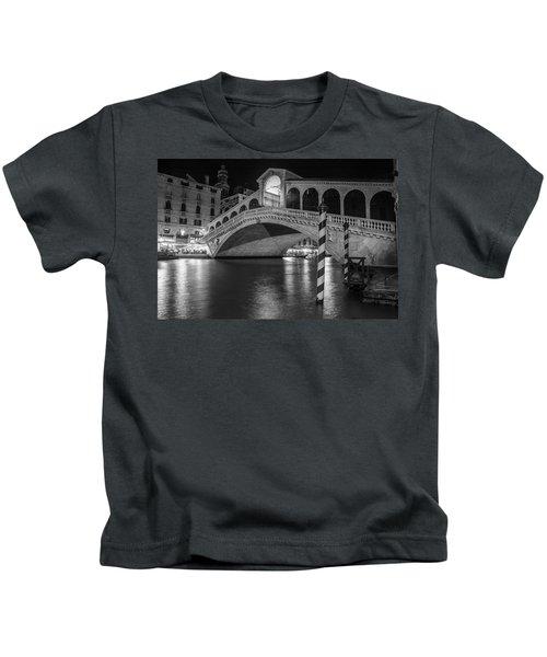 Rialto Bridge Black And White  Kids T-Shirt