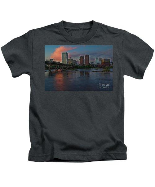 Richmond Dusk Skyline Kids T-Shirt
