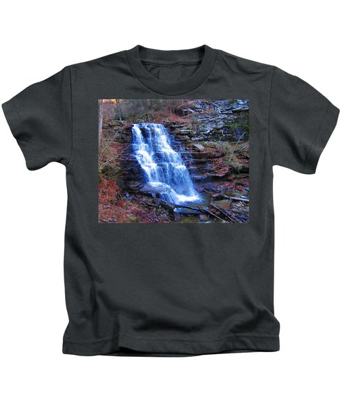 Ricketts Glen Waterfall 3941  Kids T-Shirt