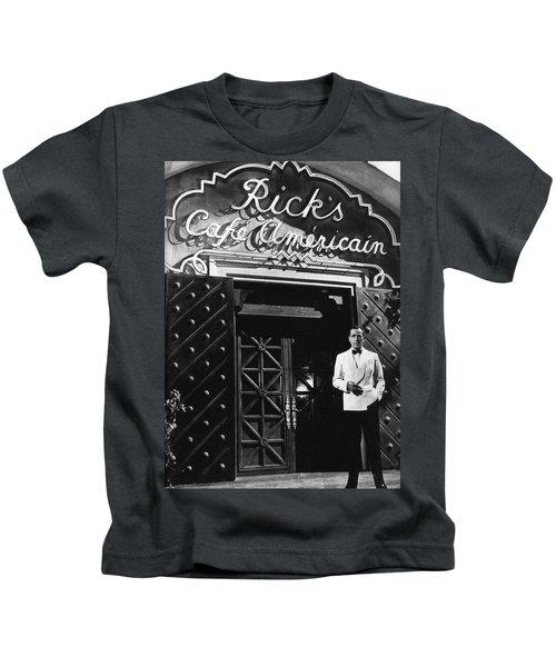 Ricks Cafe Americain Casablanca 1942 Kids T-Shirt