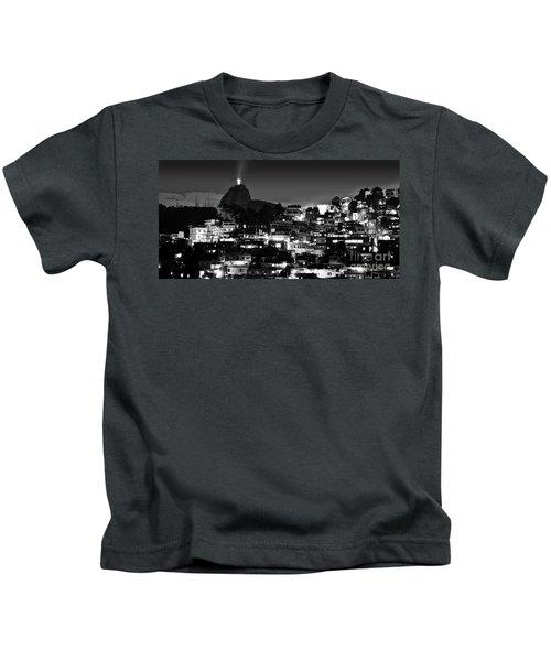 Rio De Janeiro - Christ The Redeemer On Corcovado, Mountains And Slums Kids T-Shirt