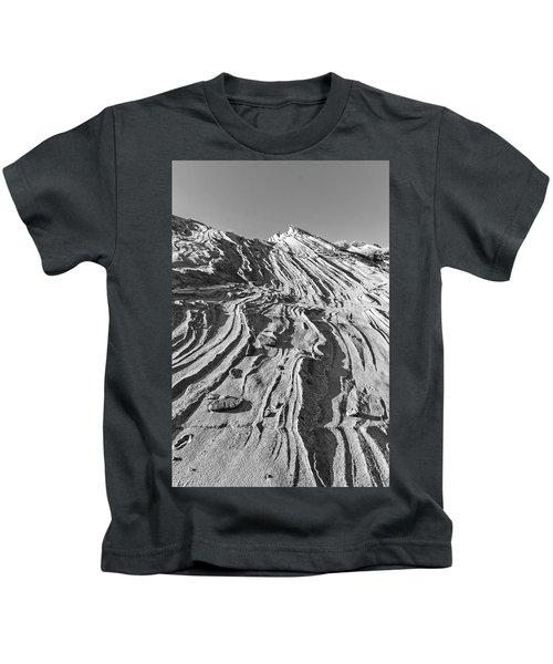 Rippled Sandstone At Waterhole Canyon Kids T-Shirt