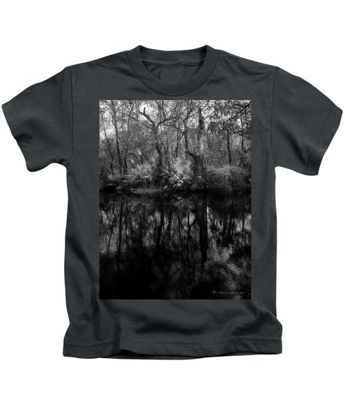 River Bank Palmetto Kids T-Shirt by Marvin Spates