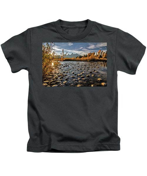 River In The Tetons Kids T-Shirt