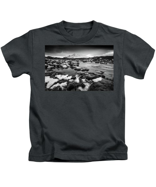 River Sligachan And Black Cuillin, Isle Of Skye Kids T-Shirt