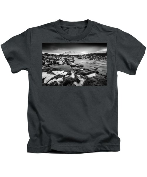 River Sligachan And Black Cuillin, Isle Of Skye Kids T-Shirt