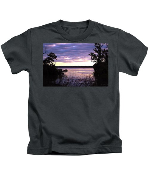River Sunrise Kids T-Shirt