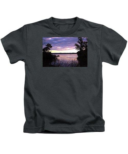 River Sunrise Kids T-Shirt