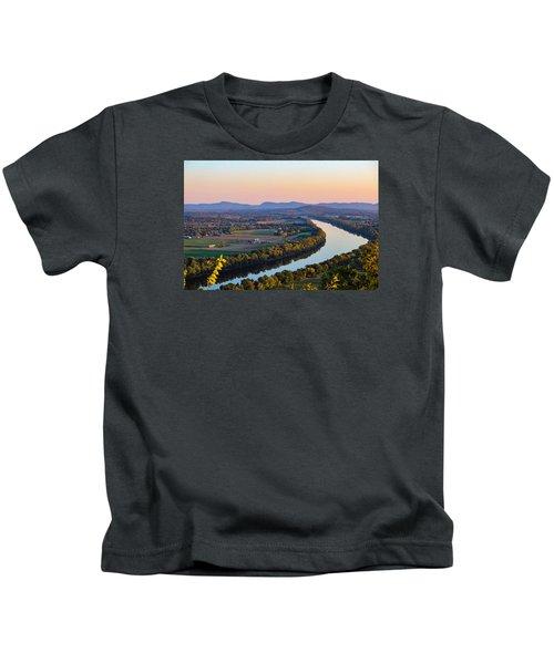 Connecticut River View  Kids T-Shirt