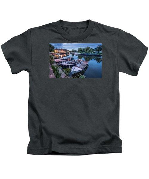 Riverside By Night Kids T-Shirt