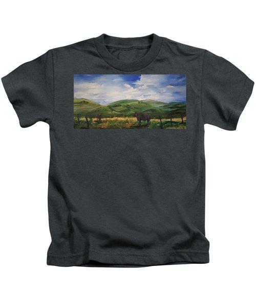 Road To Melrose, Montana         32 Kids T-Shirt