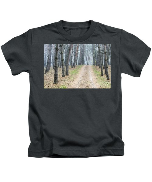 Road To Pine Forest Kids T-Shirt