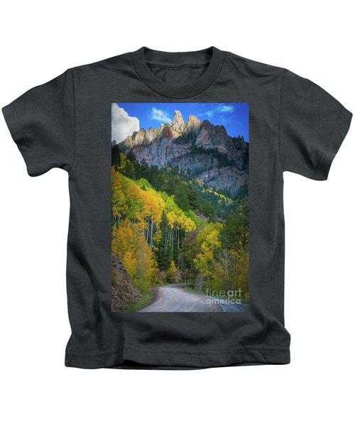 Road To Silver Mountain Kids T-Shirt