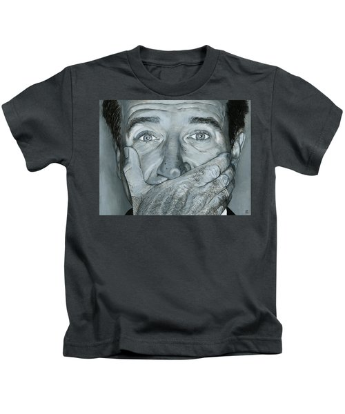 Kids T-Shirt featuring the photograph Robin Williams by Matthew Mezo