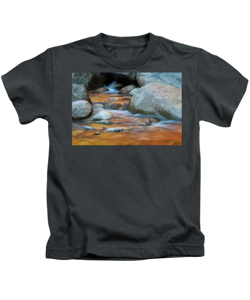 Rock Cave Reflection Nh Kids T-Shirt