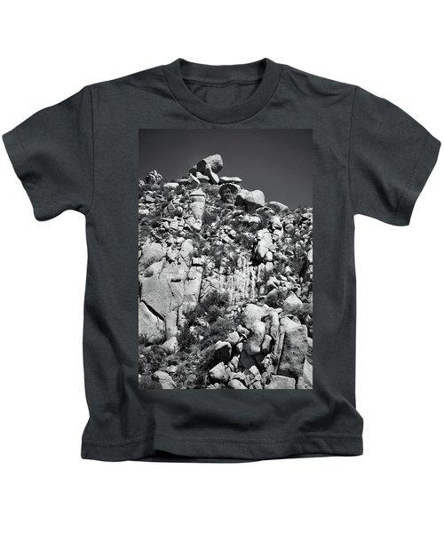 Rock Face Sandia Mountain Kids T-Shirt