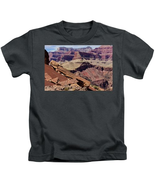 Rock Formations In The Grand Canyon Kids T-Shirt