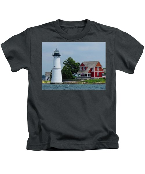 Rock Island Lighthouse July Kids T-Shirt