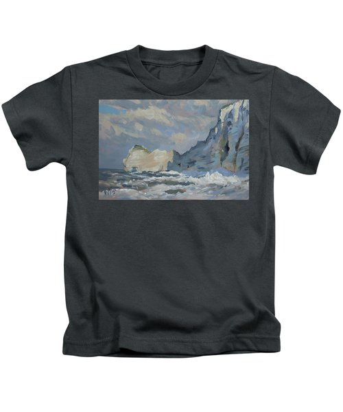 Rock Of Amont Etretat Kids T-Shirt