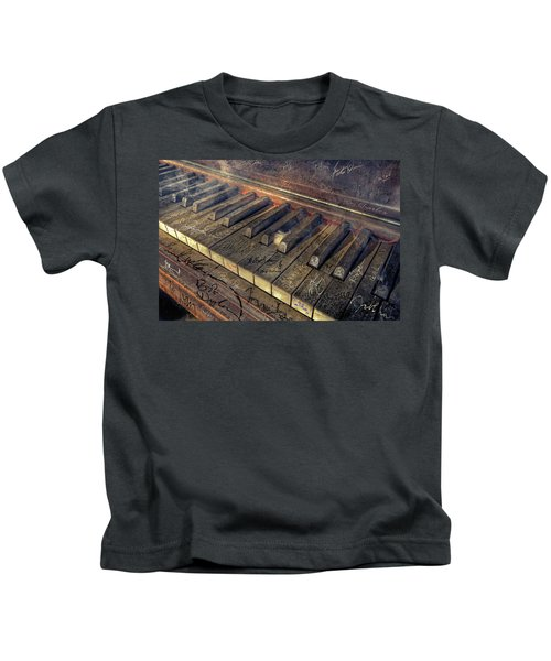 Rock Piano Fantasy Kids T-Shirt by Mal Bray