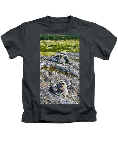 Rock Stacking In Norway Kids T-Shirt